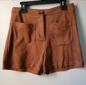 Lush brown suede shorts